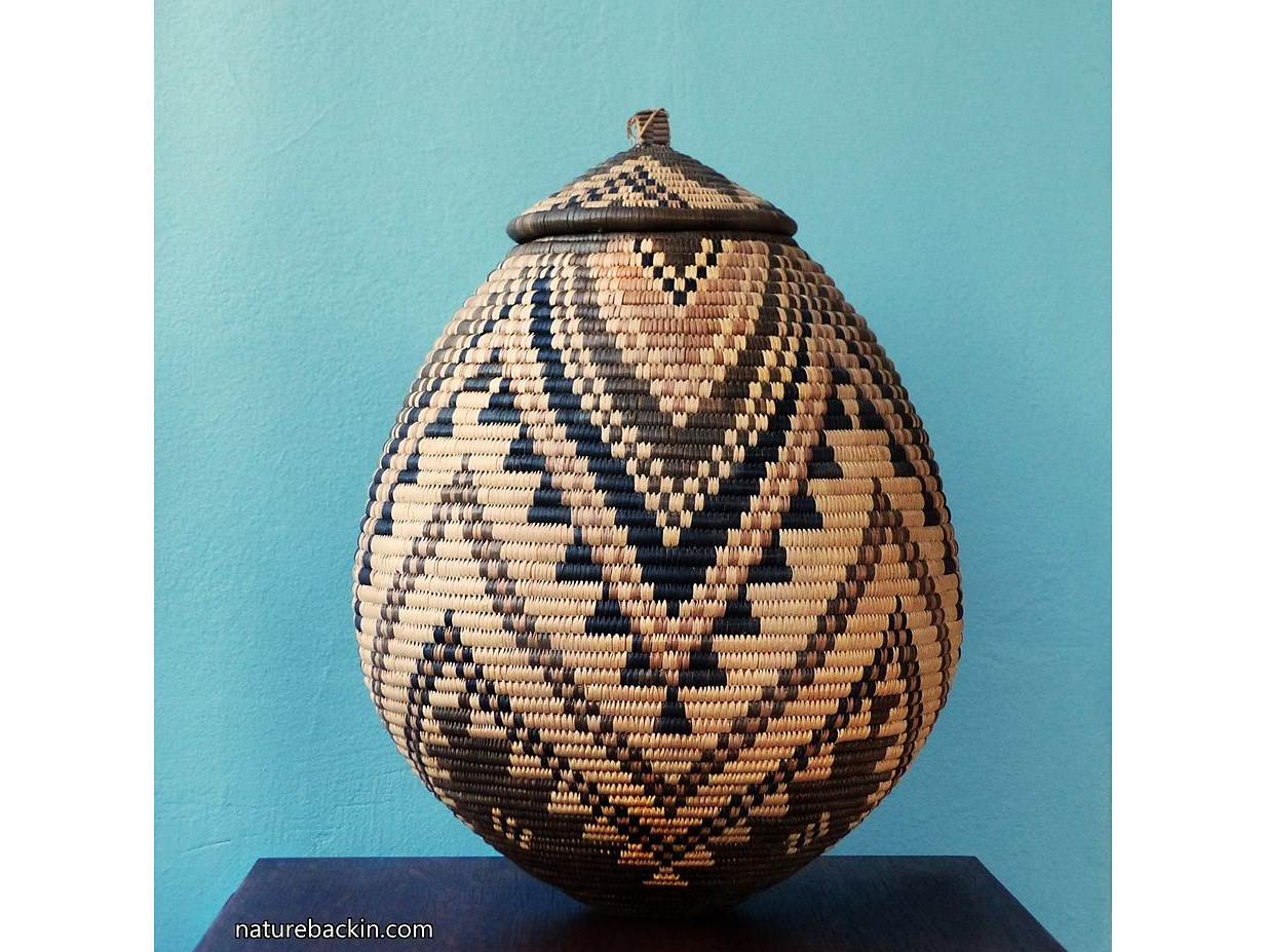 Basket inspired by Zulu beer baskets