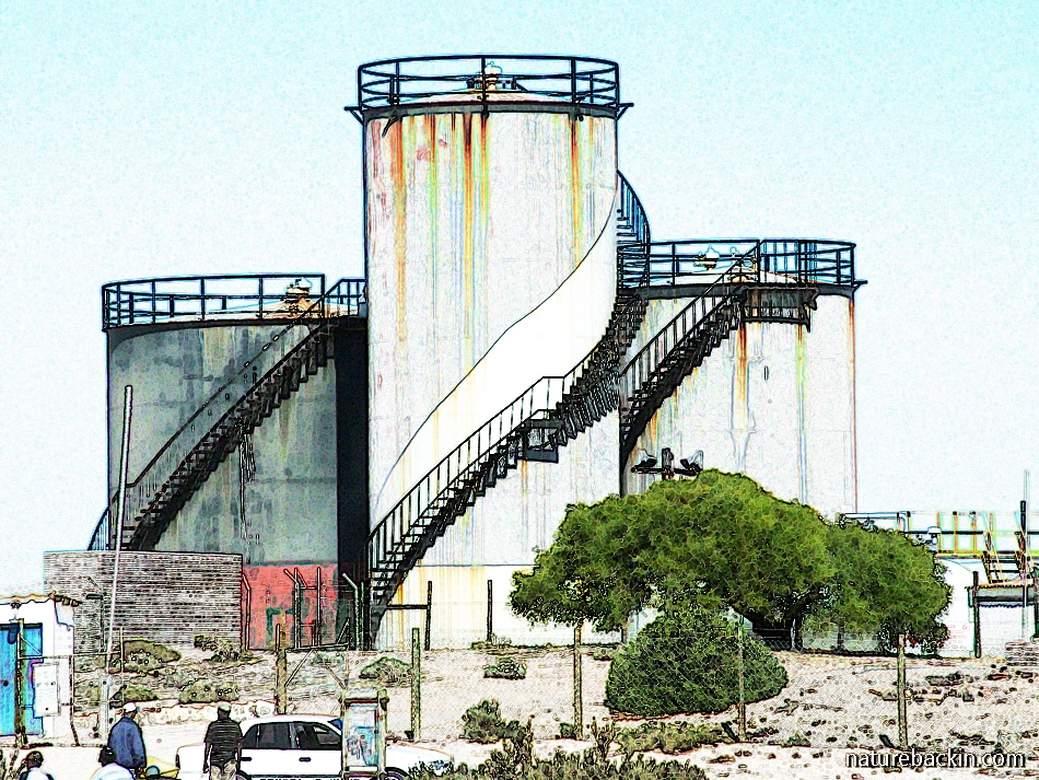 Fuel storage tanks Port Nolloth