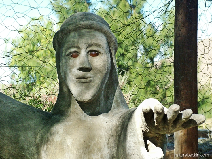Concrete sculptured figure, Camel Yard, Owl House, Nieu Bethesda