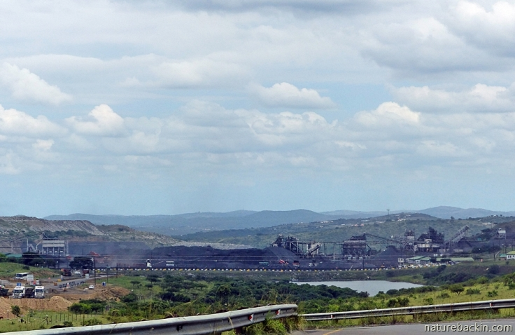 Tendele's opencast coal mine at Somkhele, KwaZulu-Natal