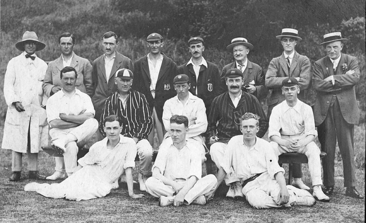 Country cricket team, England, 1920s
