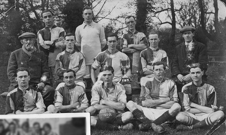 Country football team, England, 1920s