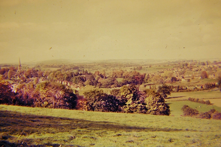 Photograph taken in 1965 ofa view of Ross-on-Wye, Herefordshire