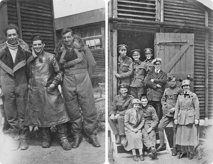 Old photos of World War 1 airship crew at an English airbase