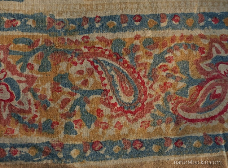 Paisley border on block-printed fabric