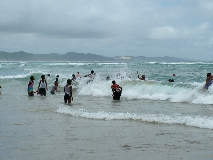 Swimming at Sodwana Bay