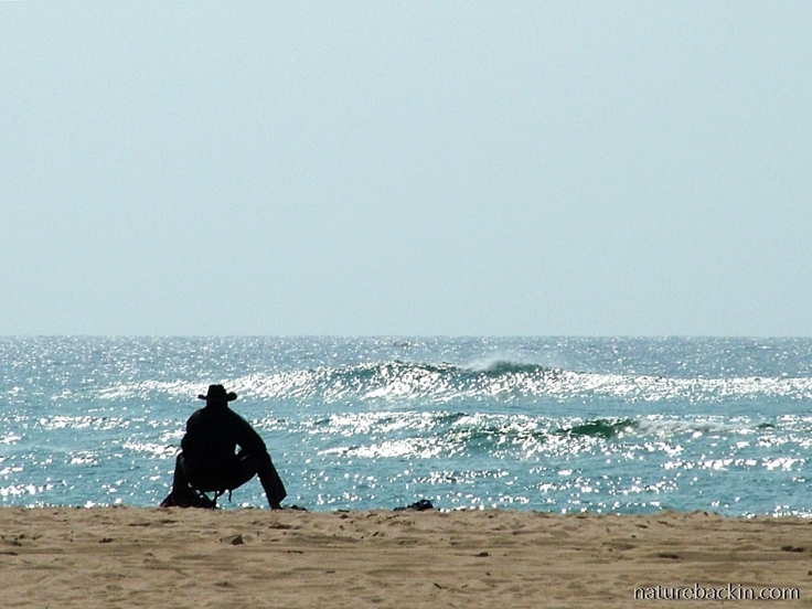 Man contemplating the sea at Sodwana Bay