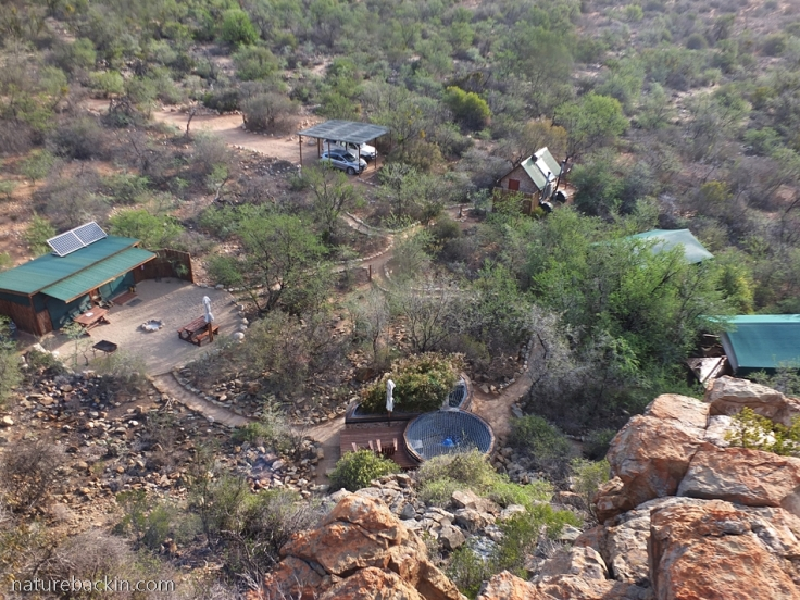 View over Fossil Ridge Eco Camp, Gamkaberg
