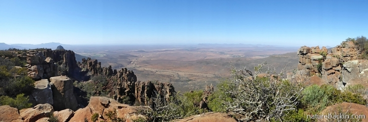 View at Valley of Desolation, Camdeboo National Park, Western Cape