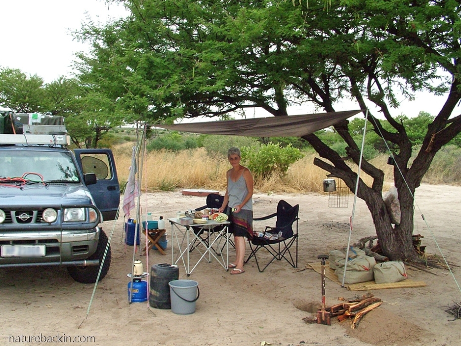 Passarge Valley campsite at the Central Kalahari Game Reserve, Botswana