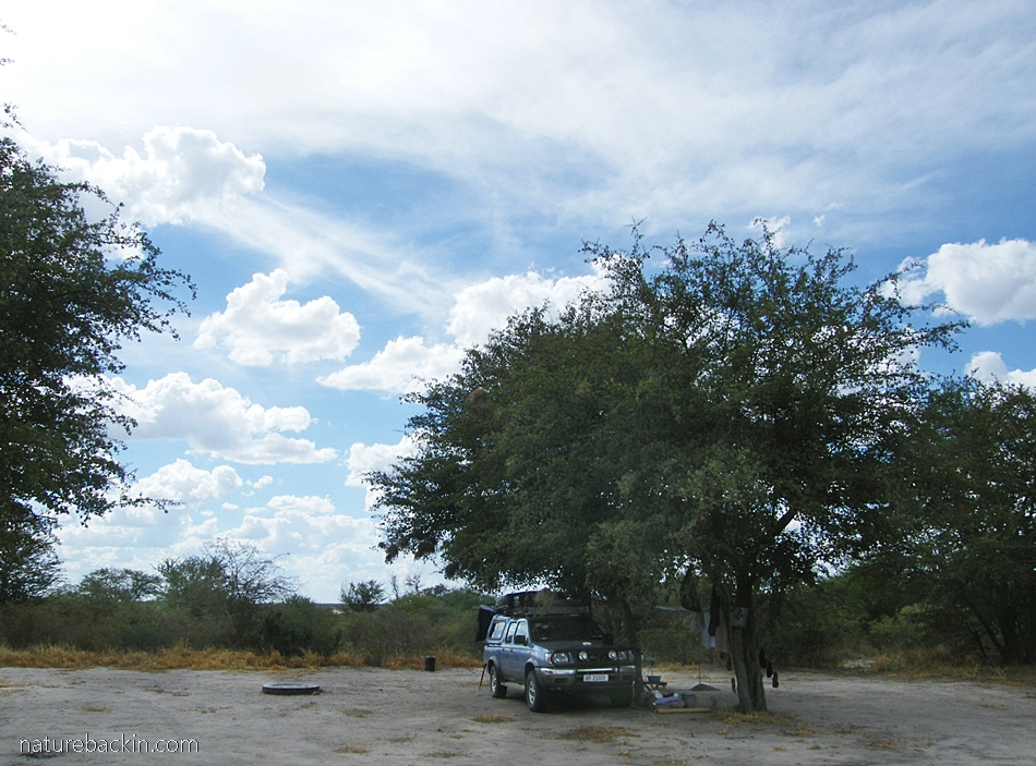 Leopard Pan campsite at the Central Kalahari Game Reserve, Botswana