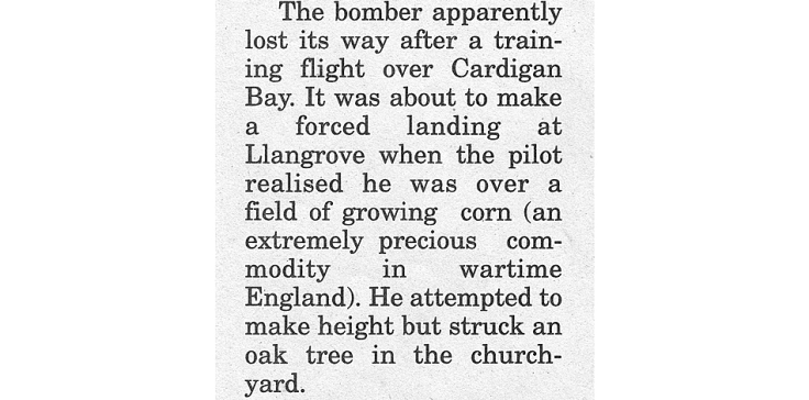 Clip from World War 2 newspaper article