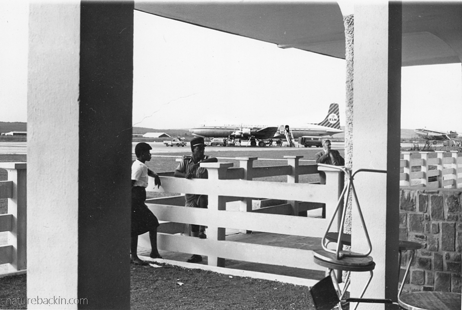 Aircraft parked at the airport 1960