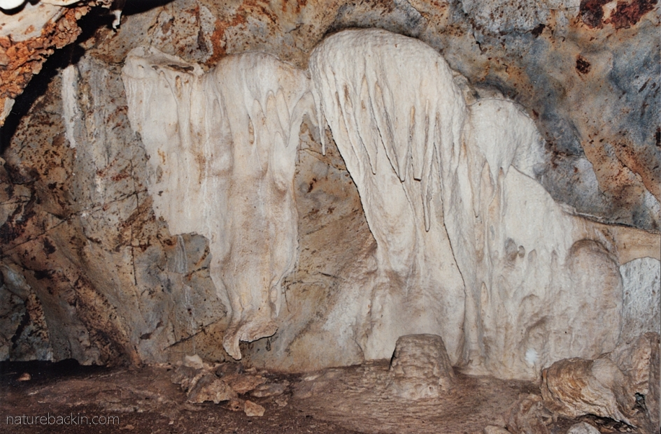 Flow stone at Gcwihaba Caves (Drotsky's Cavern) Botswana
