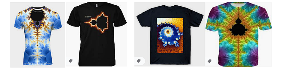 Mandelbrot Set on T-shirts