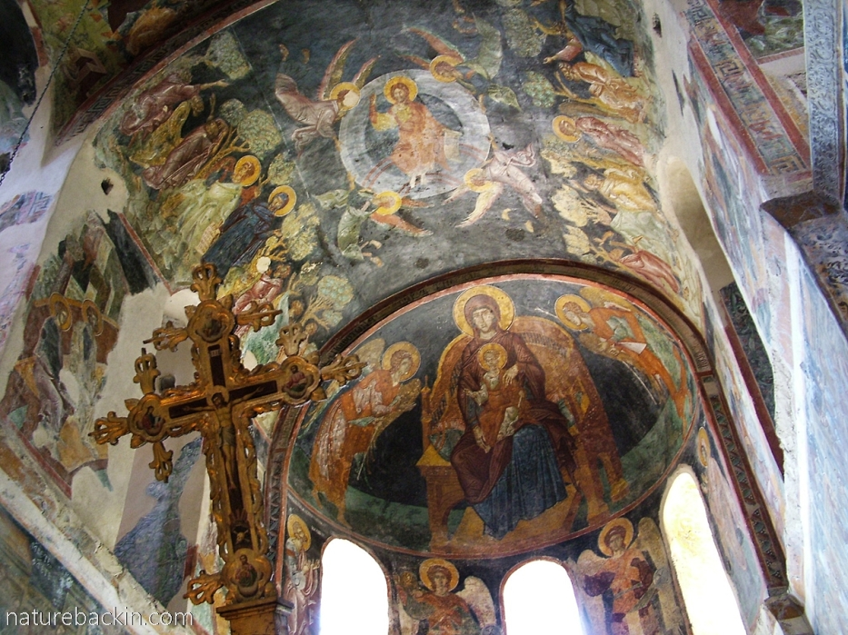 Frescoes Pantanassa church, Mystras, Greece