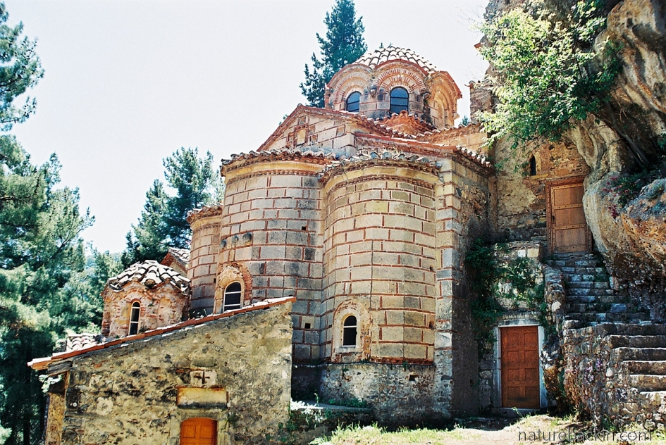 Part of the Perivleptos monastery, Mystras, Greece
